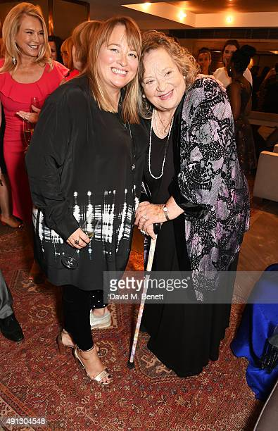Beatie Edney and Sylvia Syms attend the Voice Of A Woman Awards at the Belgraves Hotel on October 4 2015 in London England