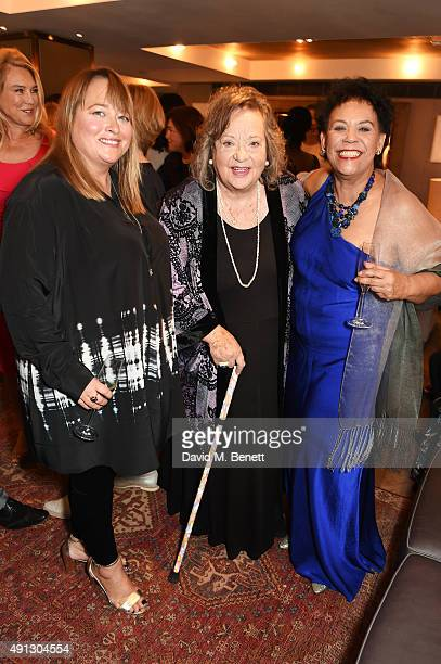 Beatie Edney Sylvia Syms and Esther Anderson attend the Voice Of A Woman Awards at the Belgraves Hotel on October 4 2015 in London England