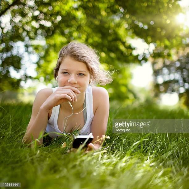 Beatiful Teenage Girl in the Park