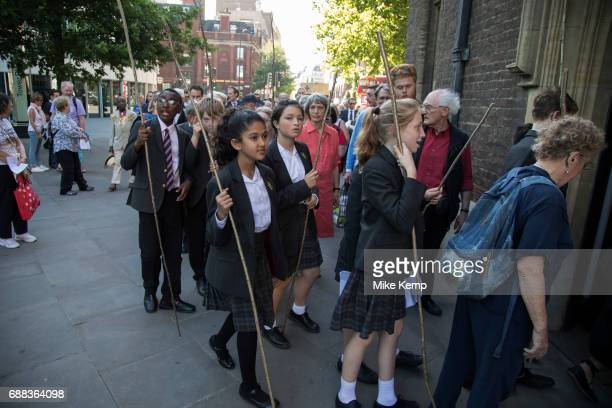 Beating Party made up of students from St Dunstan's College Catford who return to their roots in the parish of St DunstanintheEast to take part...