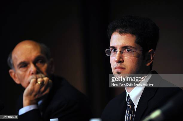 Beating victim Bryan Steinhauer at press conference at Mt Sinai hospital where he discusses his recovery with his doctors and parents Bryan was beat...