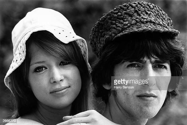Beatle George Harrison with his wife Patti Boyd on their honeymoon in Barbados