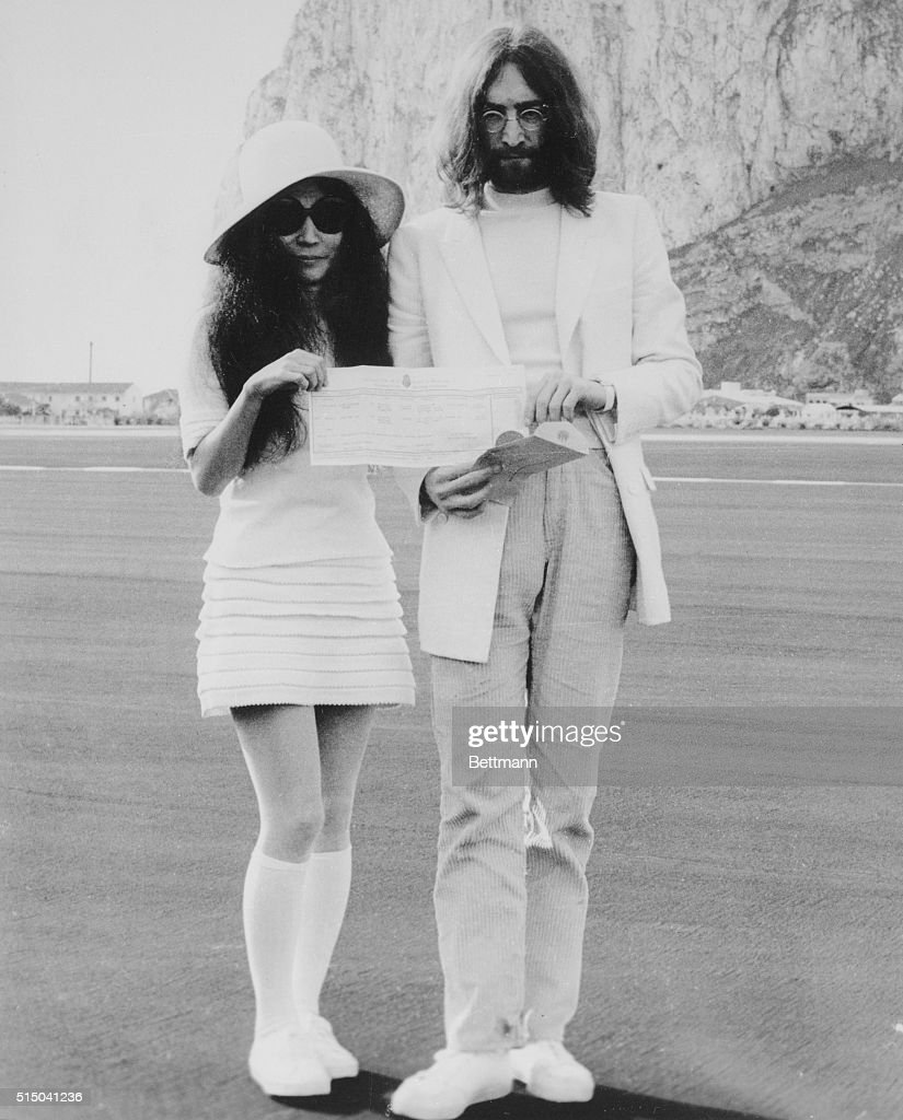 Beatle John Lennon And His Bride Anese Born Yoko Ono Hold The Marriage