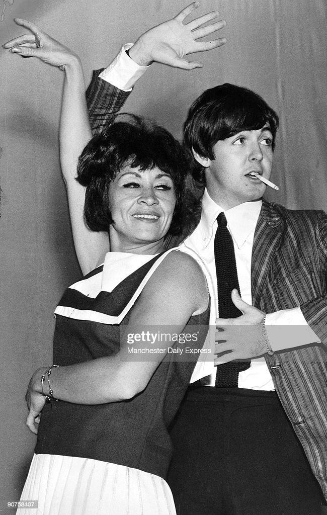 Beatle McCartney on stage with singer Hispano-American Chita Rivera.