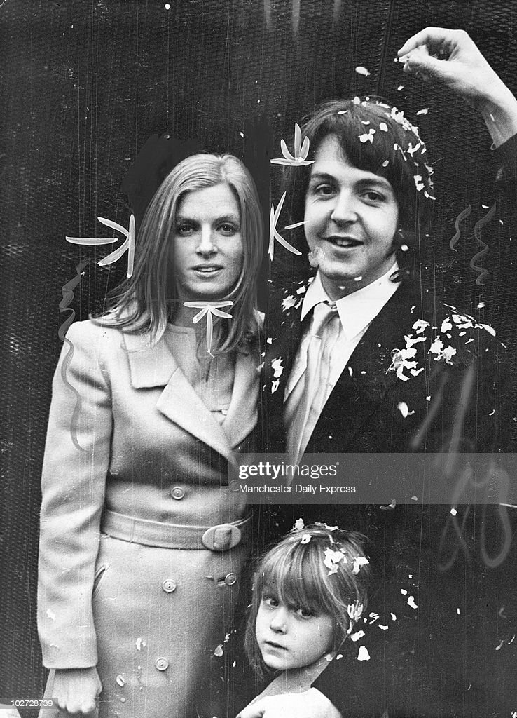 Beatle Paul McCartney Weds Linda Eastman At Marylebone Register Office