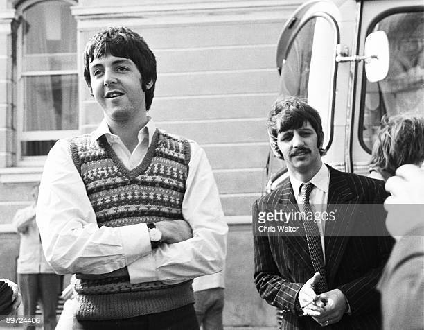 Beatles 1967 Paul McCartney and Ringo Starr at start of Magical Mystery Tour