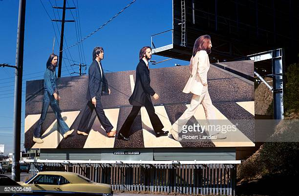 Beatles Abbey Road Billborad on Sunset Strip