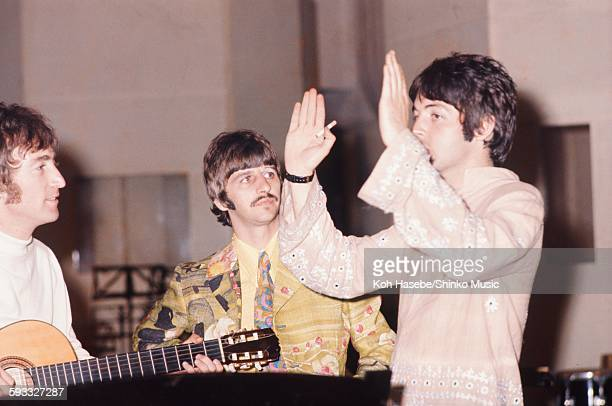 Beatles at EMI Studio Abbey Road during the rehearsal 'The Fool On The Hill' London September 1967