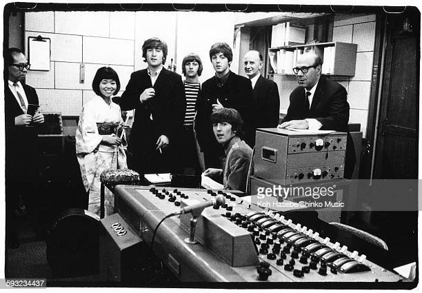 Beatles at EMI Studio Abbey Road London June 15 1965