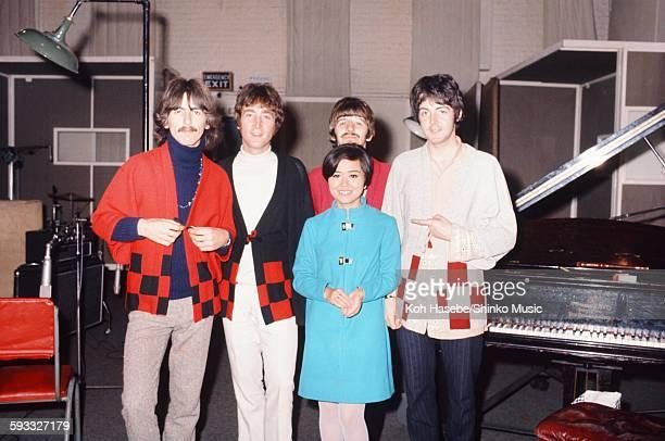 Beatles at EMI Studio Abbey Road London September 1967