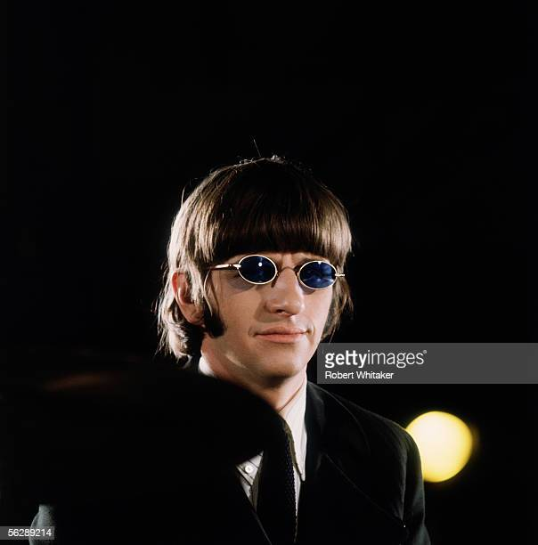 Beatles drummer Ringo Starr pictured during the Abbey Road session to record Paperback Writer and Rain April 1966