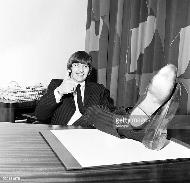 ONLY Beatles drummer Ringo Starr speaks to the press after the birth of his baby boy Zak at Queen Charlotte's hospital in London 14th September 1965