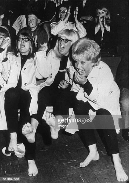 Beatles fans at a Beatle concert in Copenhagen 1964 Photograph