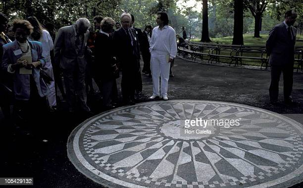 Beatles' Fans during Strawberry Fields Dedication at Central Park in New York City New York United States