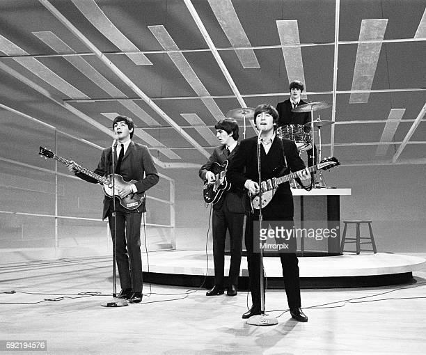 Beatles Files 1964 John Lennon Paul McCartney George Harrison and Ringo Starr rehearse their appearance on the Ed Sullivan show 1964 beatexhib12