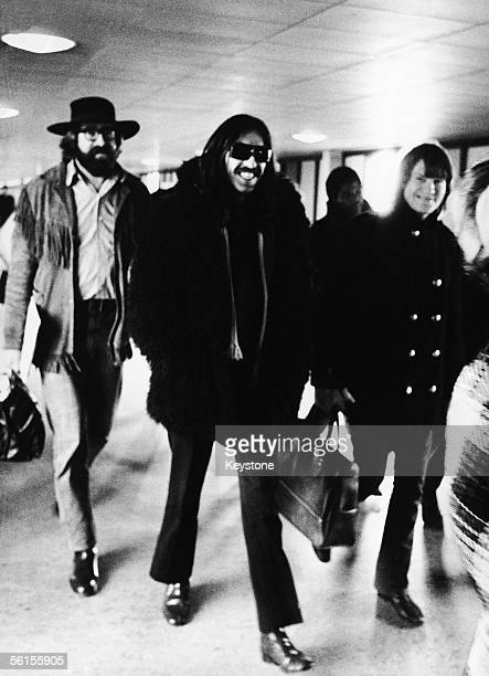 Beatles guitarist George Harrison arriving in Copenhagen where he is visiting American singers Delaney and Bonnie on tour 10th December 1969