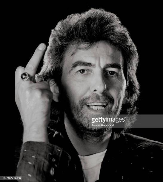 Beatles legend George Harrison poses for a portrait in Los Angeles California