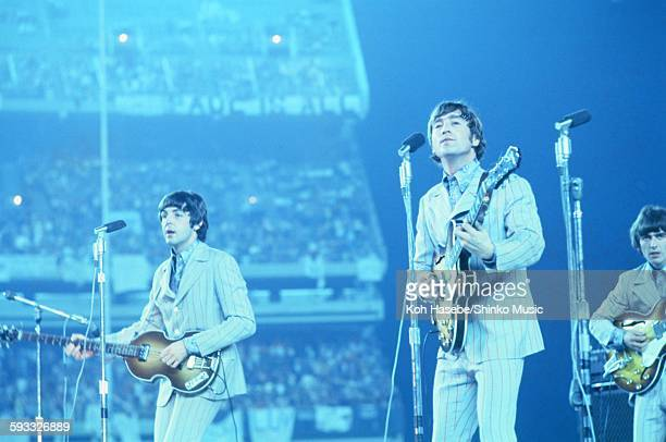 Beatles live at Shea Stadium, NYC, August 23, 1966.
