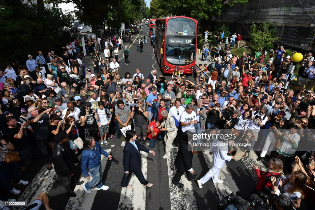 50th anniversary of The Beatles Abbey Road photograph : News Photo