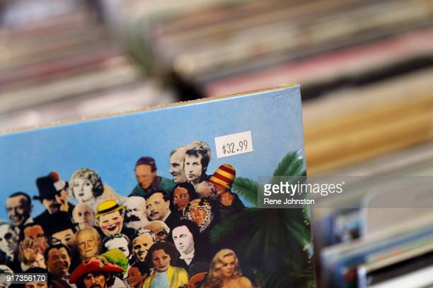 TORONTO ON FEBRUARY 6 Beatles Sgt Peppers at 3299 Vinyl Cost at Little Italy Inside Toronto record store Soundscapes to illustrate the surge in...