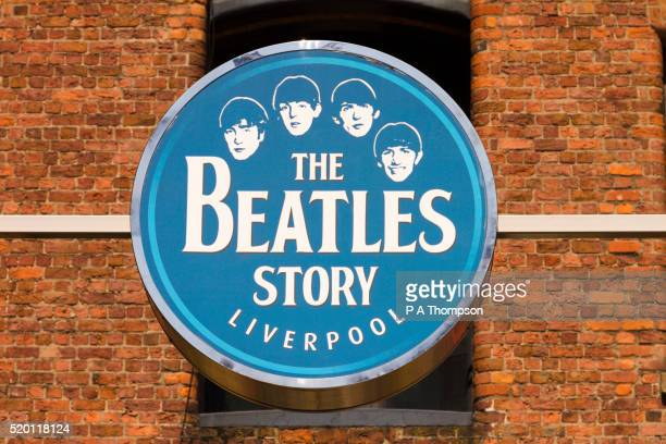 Beatles story sign