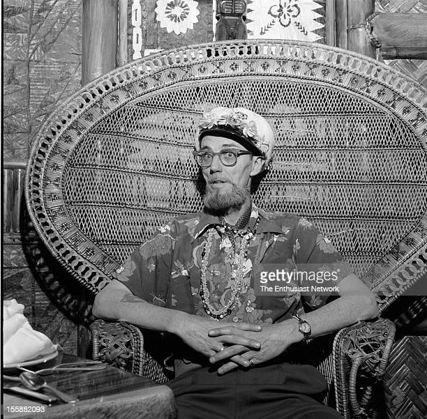 1959 Beatnik photographer Earl Leaf takes a moment away from the camera for a respite during a photo shoot for TEEN magazine about how to organize a...