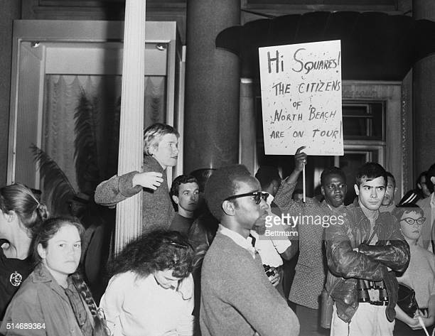 Beatniks went on a walking tour of San Francisco's downtown to see how others lived It was a peaceful demonstration that ended at a bagel shop where...