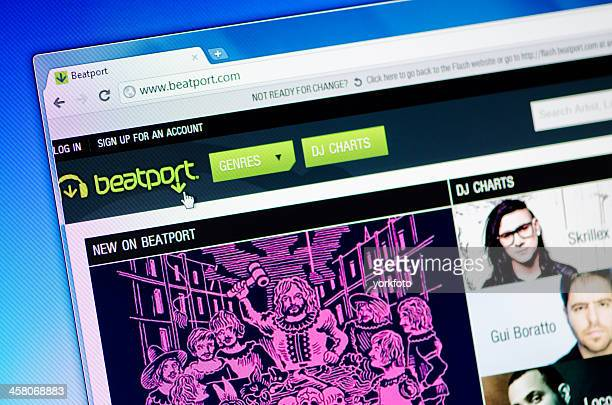 Beatport webpage on the browser
