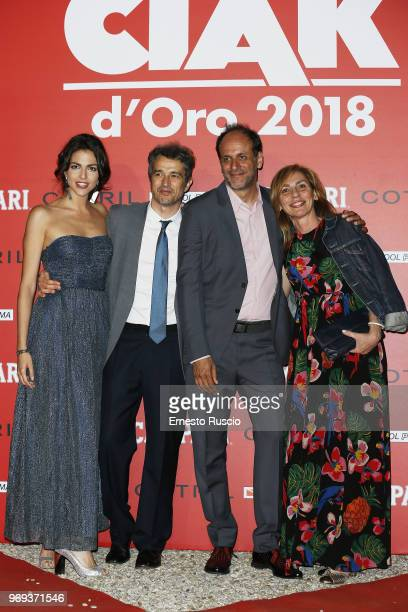 Beatrice Aiello Walter Fasano and Luca Guadagnino and wife arrive at the Ciak D'Oro Awards Ceremony at Link Campus University on June 7 2018 in Rome...