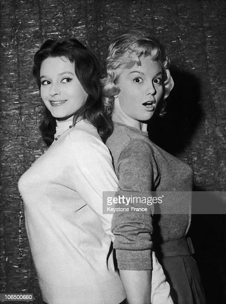 Beatrice Altariba And Mylene Demongeot In Sois Belle Et Tais Toi. December 1957.