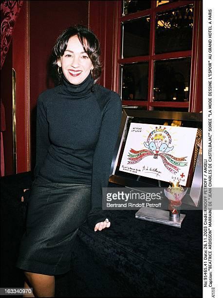 "Beatrice Ardisson godmother of ""Jean Charles De Castelbajac"" party ""La Mode Dessine L'Espoir"" at the Grand Hotel in Paris."