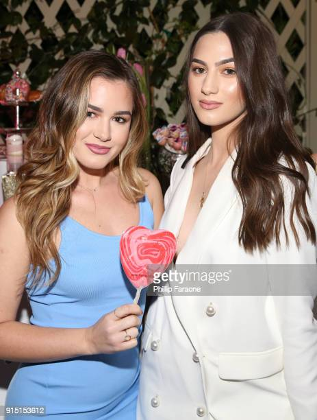 Beatrice Balaj and Eunicia Balaj attend Victoria's Secret Ultimate Girls Night In with Angels Josephine Skriver and Romee Strijd at Peninsula Hotel...