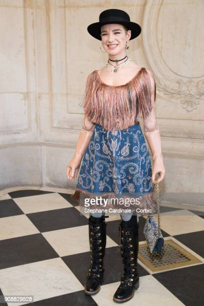 Beatrice 'Bebe' Vio attends the Christian Dior Haute Couture Spring Summer 2018 show as part of Paris Fashion Week January 22 2018 in Paris France