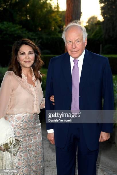 Beatrice Bordone Bulgari and Nicola Bulgari attend McKim Medal Gala at Villa Aurelia on June 7 2017 in Rome Italy