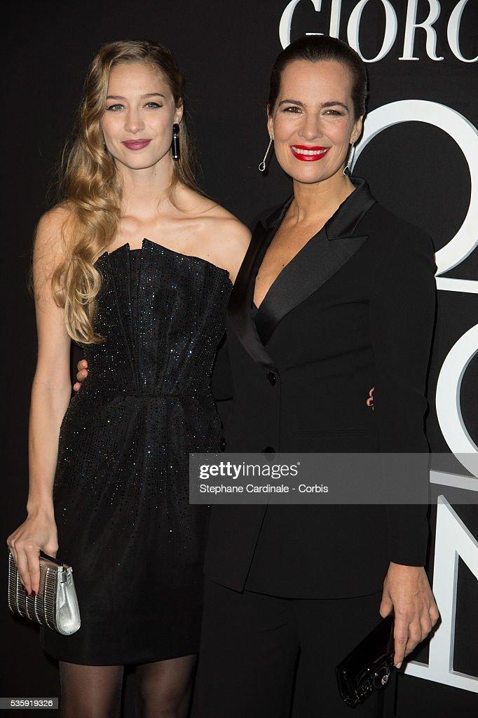 Beatrice Borromeo and Roberta Armani attend the Giorgio Armani Prive show as part of Paris Fashion Week Haute Couture Spring/Summer 2014, at Palais de tokyo in Paris.