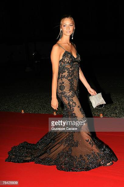 Beatrice Borromeo arrives at the dinner at Palazzo Reale after the ballet 'Thanks Gianni with Love' to commemorate the tenth anniversary of the death...