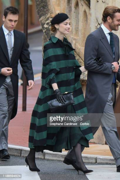 Beatrice Borromeo arrives at the Monaco Cathedral during the Monaco National Day Celebrations on November 19, 2019 in Monte-Carlo, Monaco.