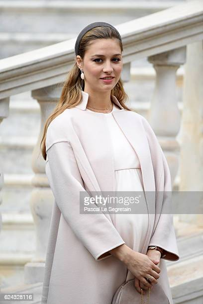 Beatrice Borromeo attends the Monaco National Day Celebrations in the Monaco Palace Courtyard on November 19 2016 in Monaco Monaco