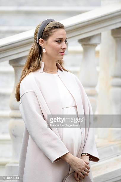 Beatrice Borromeo attends the Monaco National Day Celebrations in the Monaco Palace Courtyard on November 19 2016 in Monaco Monaco