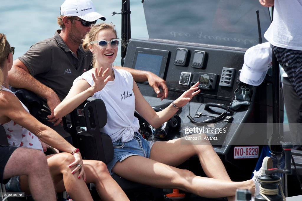 Beatrice Borromeo is seen during the 36th Copa Del Rey Mafre Sailing Cup on August 2, 2017 in Palma de Mallorca, Spain.