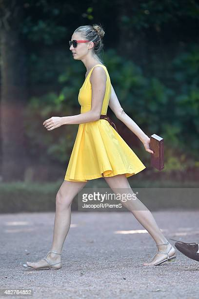 Beatrice Borromeo is seen on August 2 2015 in STRESA Italy