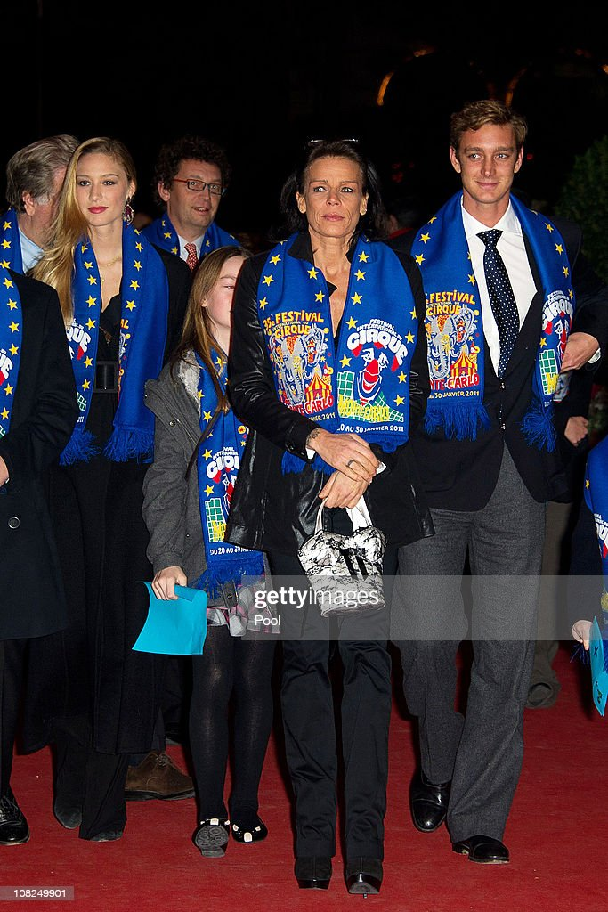 Beatrice Borromeo, Princess Alexandra of Hanover, Princess Stephanie of Monaco and Pierre Casiraghi attend the 35th Monte-Carlo International Circus Festival on January 22, 2011 in Monte-Carlo, Monaco.