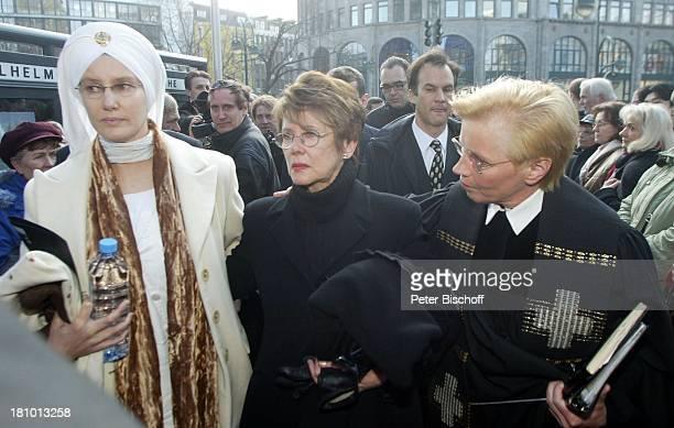 Beatrice Buchholz , Ehefrau Myriam Bru , Name auf Wunsch , Trauerfeier für Horst Buchholz, Trauergottesdienst, Kaiser-Wilhelm-Gedächtnis-Kirche,...