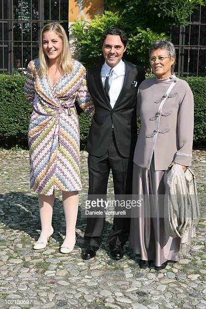 Beatrice Camerana with brother Andrea Camerana and mother Rosanna Armani