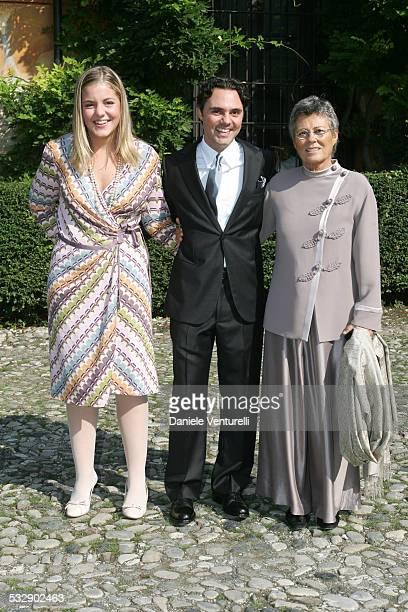Beatrice Camerana with brother Andrea Camerana and their mother Rosanna Armani