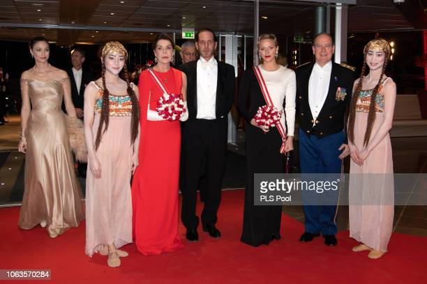 Beatrice Casiraghi a guest Princess Caroline of Hanover Andrea Casiraghi Princess Charlene of Monaco and Prince Albert II of Monaco attend a Gala...