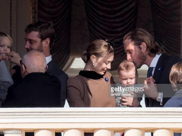 Beatrice Casiraghi and her son Stefano Casiraghi Andrea Casiraghi attend Monaco National Day Celebrations on November 19 2018 in MonteCarlo Monaco