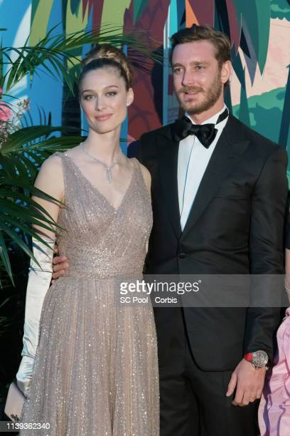 Beatrice Casiraghi and Pierre Casiraghi attend the Rose Ball 2019 To Benefit The Princess Grace Foundation In Monaco on March 30 2019 in Monaco Monaco
