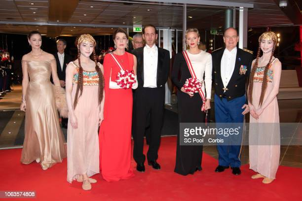 Beatrice Casiraghi Princess Caroline of Hanover Andrea Casiraghi Princess Charlene of Monaco and Prince Albert II of Monaco attend a Gala during...