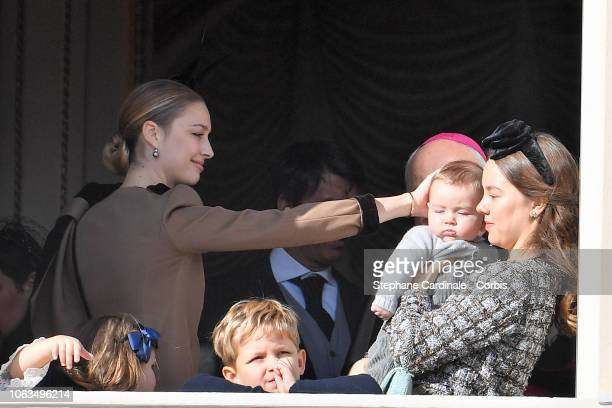 Beatrice Casiraghi Sacha Casiraghi Francesco Casiraghi and Princess Alexandra of Hanover attend Monaco National Day Celebrations on November 19 2018...